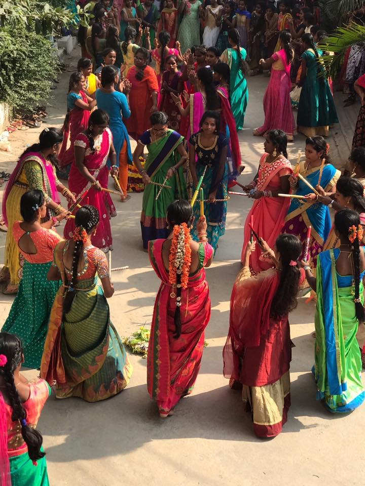 bathukamma celebrations gowthami college