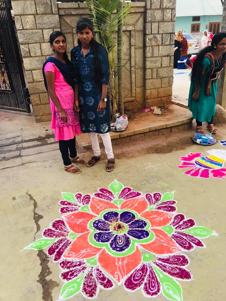 rangoli competetion at gowthami college shamshabad12