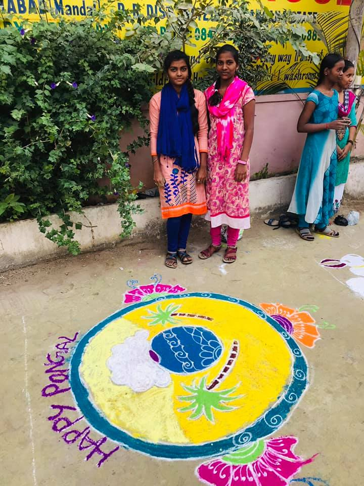 rangoli competetion at gowthami college shamshabad13