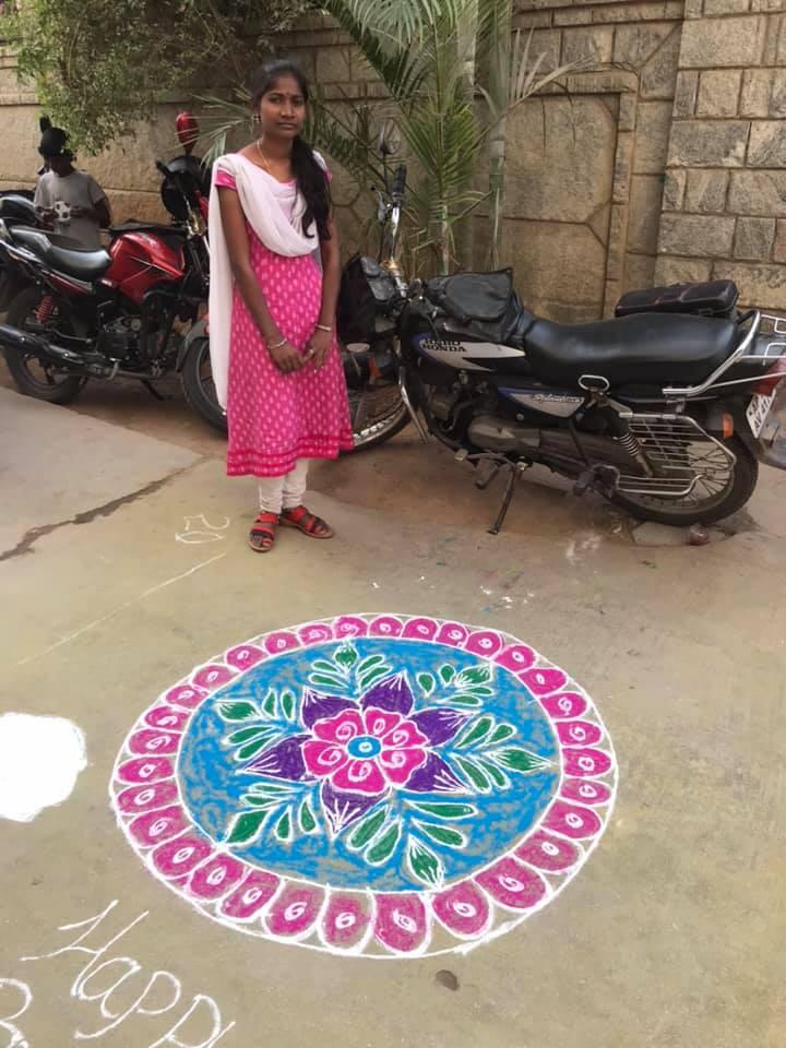 rangoli competetion at gowthami college shamshabad16